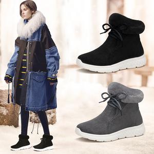 漏冻拍2件美着街拍女鞋短筒雪地靴女