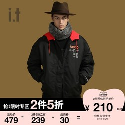 it UNDER GARDEN couple cotton-padded bomber jacket winter trend hit color hooded 7100MAD