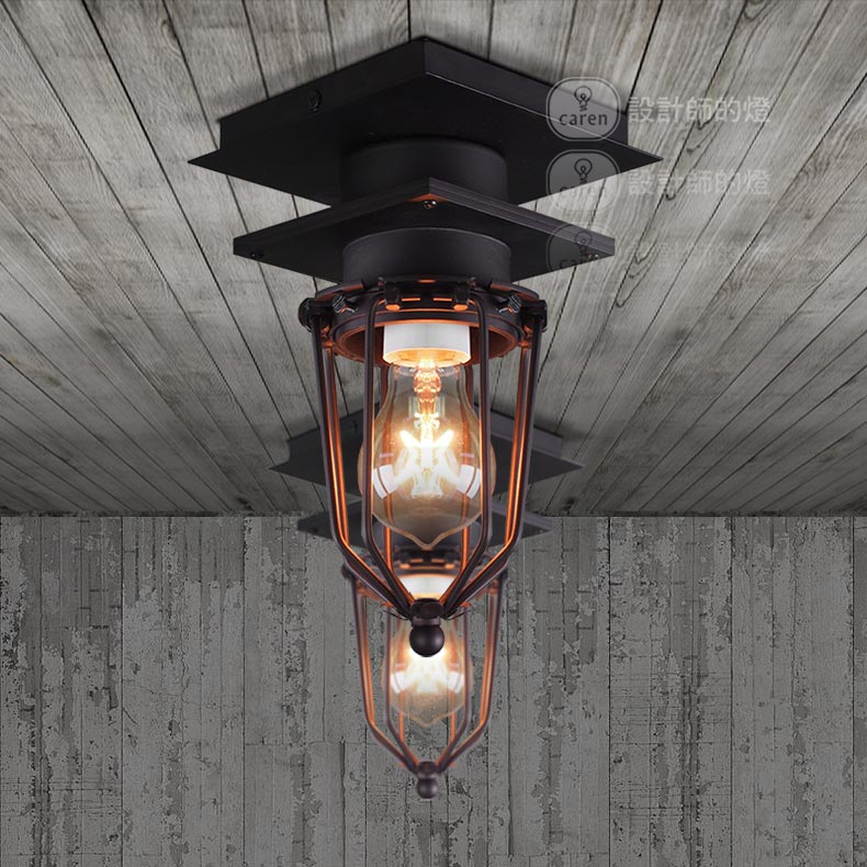 Designer ceiling lamp industrial wind retro restaurant edison designer ceiling lamp industrial wind retro restaurant edison outdoor bathroom explosion proof iron ceiling light lu818370 in ceiling lights from lights workwithnaturefo