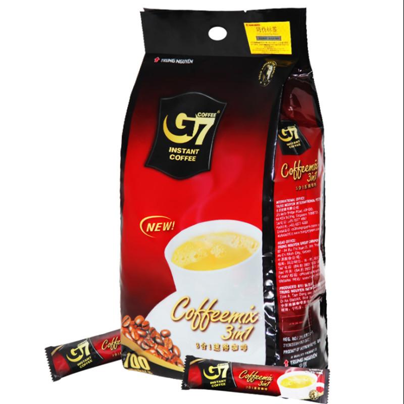 正品越南进口中原g7原味三合一速溶咖啡粉1600g含100条袋装冲饮品