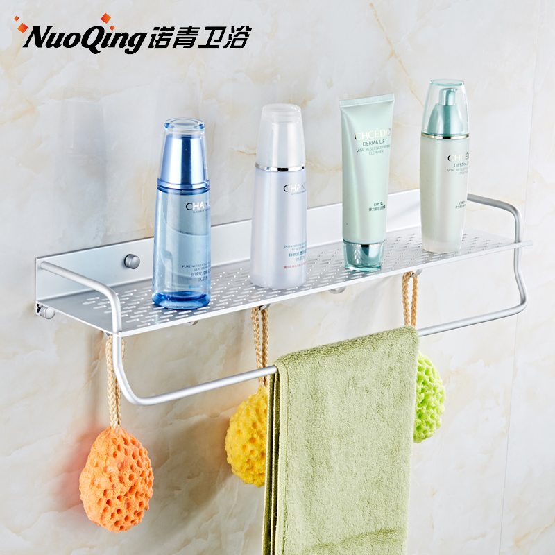 Free punch space aluminum bathroom racks bathroom racks wall hanging ...
