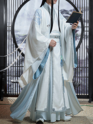 taobao agent Official Genuine Modao Patriarch Meow House Shop Lan Wangji COS Clothing Lan Zhan Adult Ancient Costume Derivative Female and Male Clothing