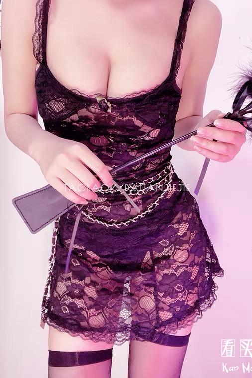 全蕾丝半透视连衣裙买家秀,火辣至极诱惑无比1
