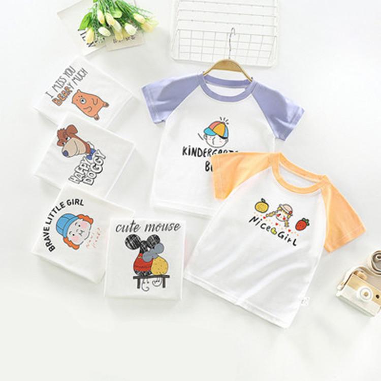 儿童短袖t恤纯棉透气夏季宝宝上衣