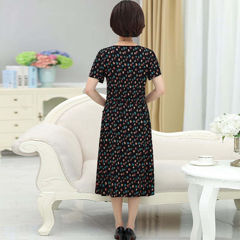 f0d47ed7dbe6 Middle-aged woman Summer Dress 2018 new 70 short-sleeved dress 50 years old  · Zoom · lightbox moreview · lightbox moreview · lightbox moreview ...