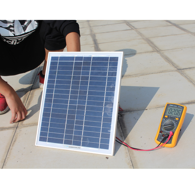 20W polycrystalline silicon solar cell module solar panel 12V battery  charging household small system street lamp
