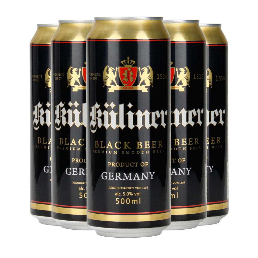 11.2%麦芽汁浓度! 德国进口!500ML*5听 古立特 黑啤酒