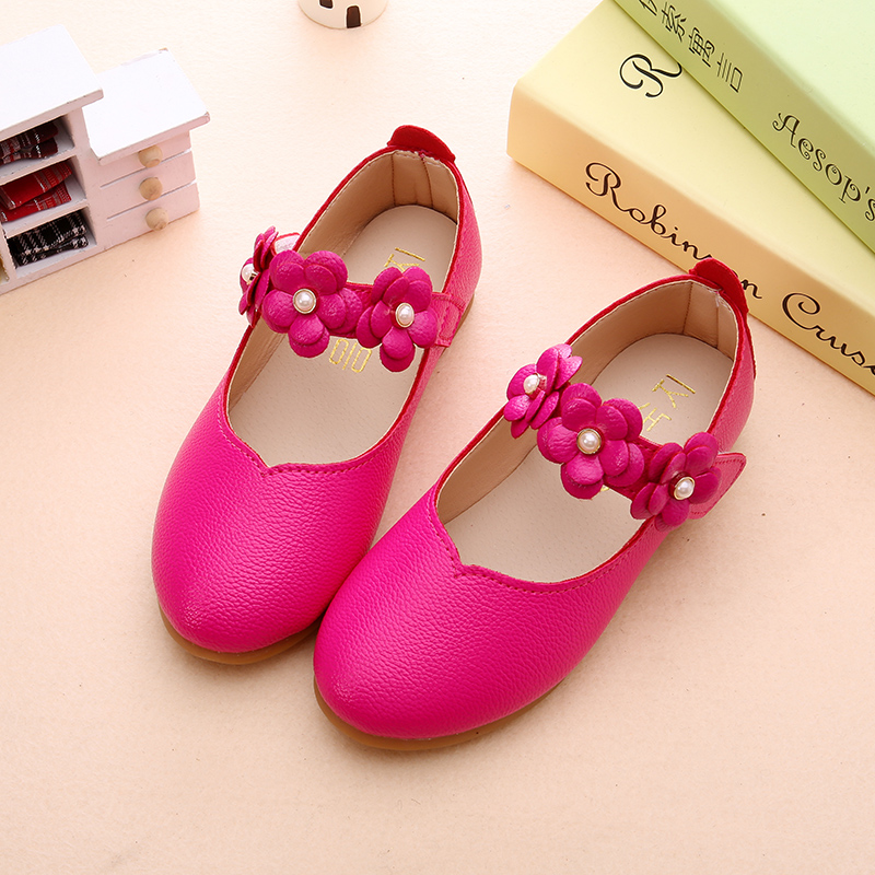 d7b8a6ccc3465 2017 spring and summer new Korean children's shoes girls shoes shoes  princess shoes white dance children's shoes 3-9 years old