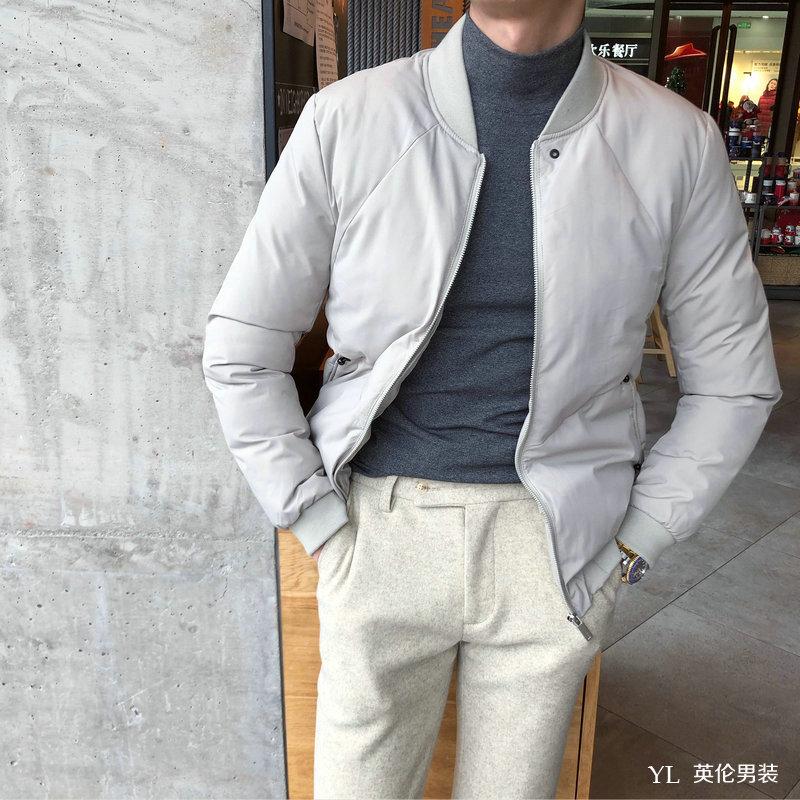 Đồng phục bóng chày mùa đông Hàn Quốc Dongdaemun giản dị áo khoác cotton nam phiên bản Hàn Quốc Áo len cotton Nhật Bản xu hướng - Đồng phục bóng chày