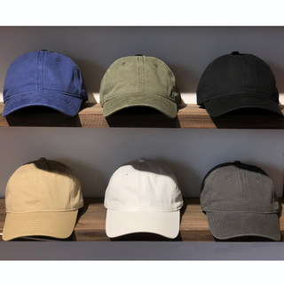 Tooling solid color cotton Japanese cap ins tide brand summer boys army green Korean soft top baseball hat women