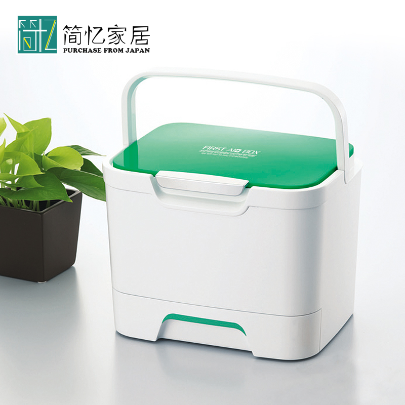 Japan Imported Portable Medicine Box Plastic First Aid Box Drug Storage Box  Home Medical Box Drug