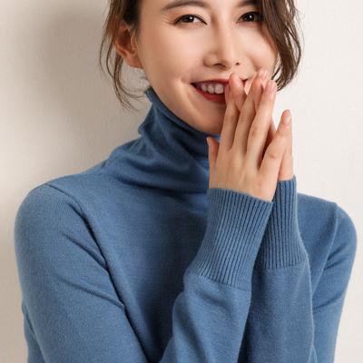 【反季清仓】堆堆领羊毛短款宽松慵懒风高领套头韩版打底针织衫