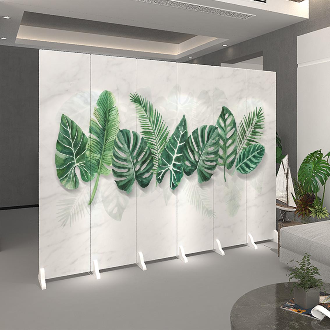 屏风隔断墙简约现代北欧客厅折叠卧室遮挡家用办公室装饰移动折屏
