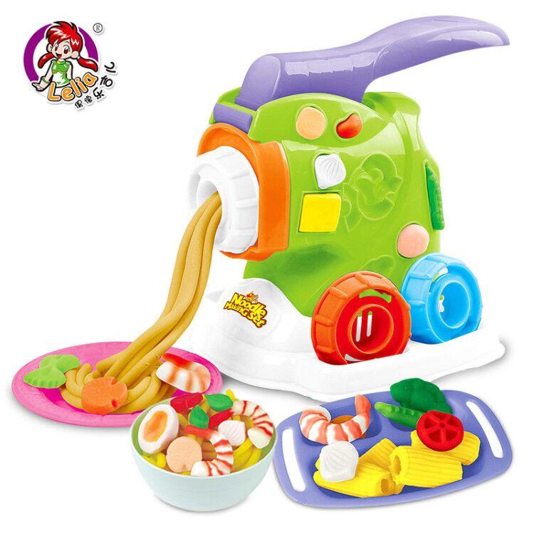 乐吉儿彩泥面条机无毒橡皮泥模具工具套装儿童冰淇淋粘土女孩玩具