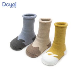 宝宝中筒袜子秋冬季纯棉初生新生幼儿童加厚保暖可爱婴儿长筒长袜