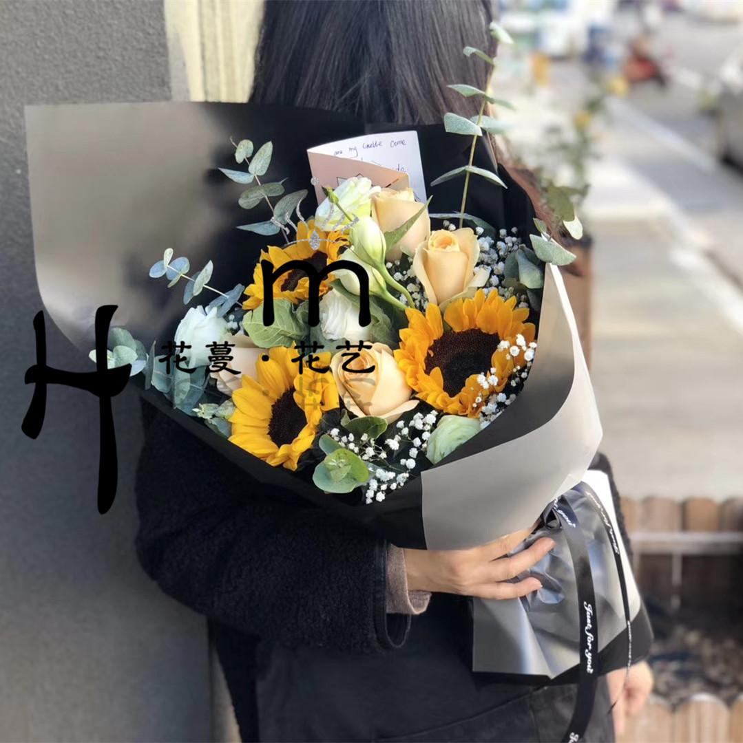 生日鲜花向日葵桔梗花束济南重庆南京上海北京鲜花店同城鲜花速递