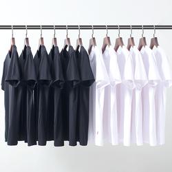 T恤短袖男士 夏季宽松白色纯色打底衫莫代尔半袖体恤上衣圆领衣服