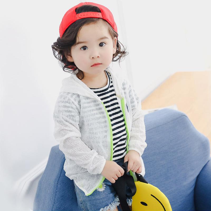 中小儿童超薄透气防晒衣男女童夏空调衫宝宝沙滩皮肤衣韩版外套潮