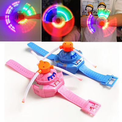 2020 new luminous toy music hand watch rotating windmill watch colorful night market stall square hot sale
