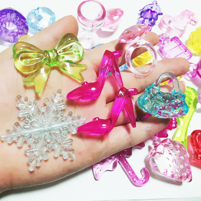 Children's Acrylic Gemstone Children's Plastic Crystal Bowknot Crystal Shoes Five-pointed Star Animal Flower Heart Toy
