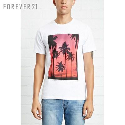 Của nam giới thường nghỉ in ngắn tay áo t- shirt mãi mãi21 Áo phông ngắn