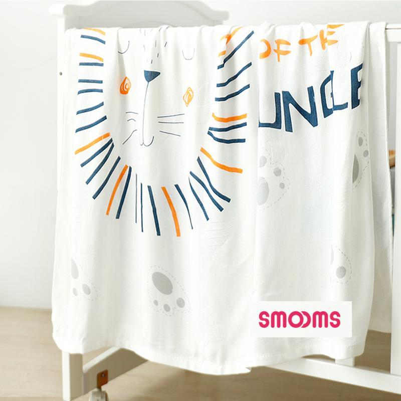 思萌婴儿冰丝盖毯 宝宝空调被竹纤维幼儿园午睡小毯子儿童6层盖被