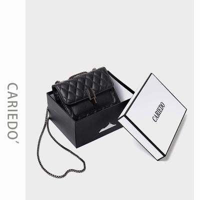 小包包女包2019新款时尚小ck洋气链条包网红小黑包质感百搭斜挎包