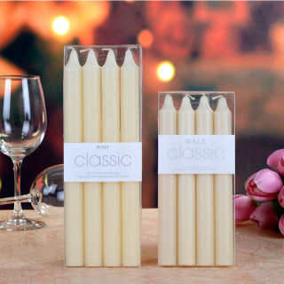 Classic classic straight tapered romantic candlelight dinner ivote white smokeless wedding candle home