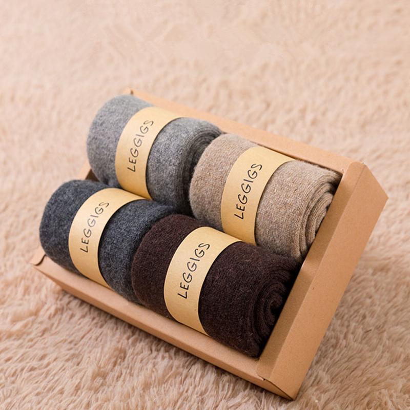 【娜美滋】男女冬季加绒加厚羊毛袜4双装