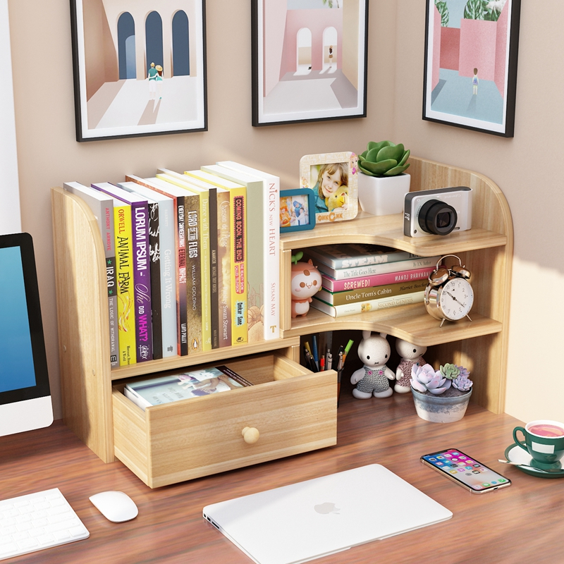 Student desks house shelf simple office table small bookshelf children's table corner multi-storey bookcase