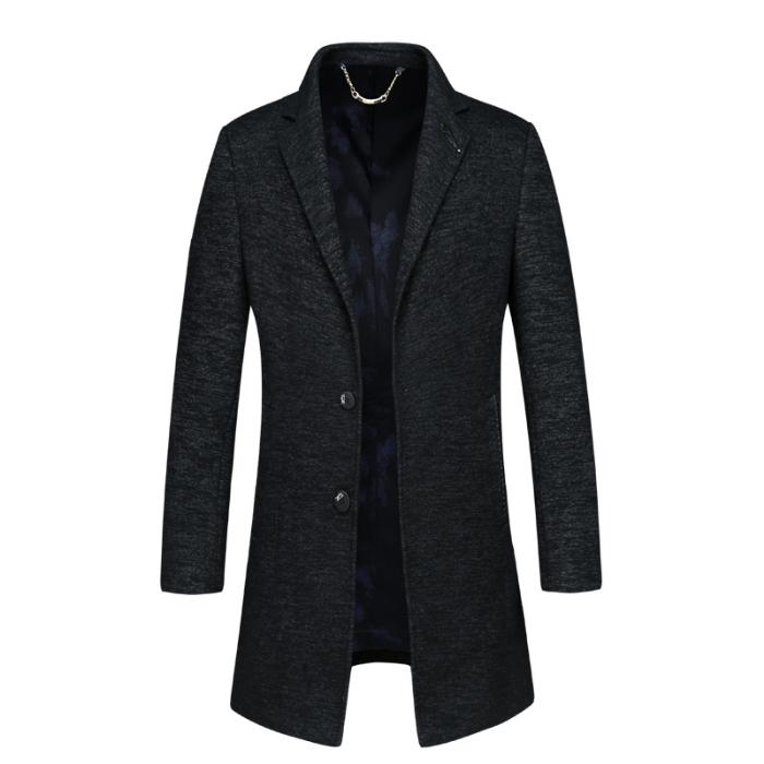 2020高端毛呢大衣男中长款羊绒男士呢子外套流行中长款大衣