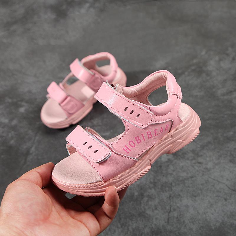 【断码特惠】哈比熊2018夏季女童凉鞋女孩沙滩鞋中大童儿童公主鞋
