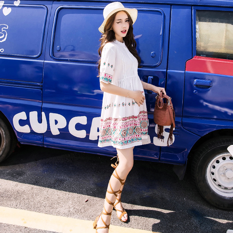 1e1f2bbcb01 Pregnant woman dress spring 2018 new Korean version of the long section can  be breast-