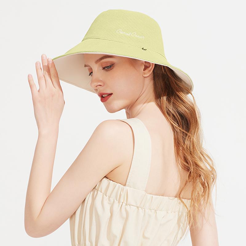 【骆驼】春夏韩版百搭双面防晒渔夫帽