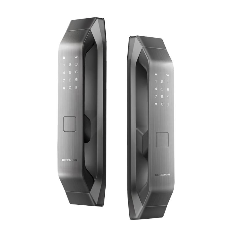 德施曼Q5全自动智能指纹锁家用防盗门密码锁电子门锁深空灰