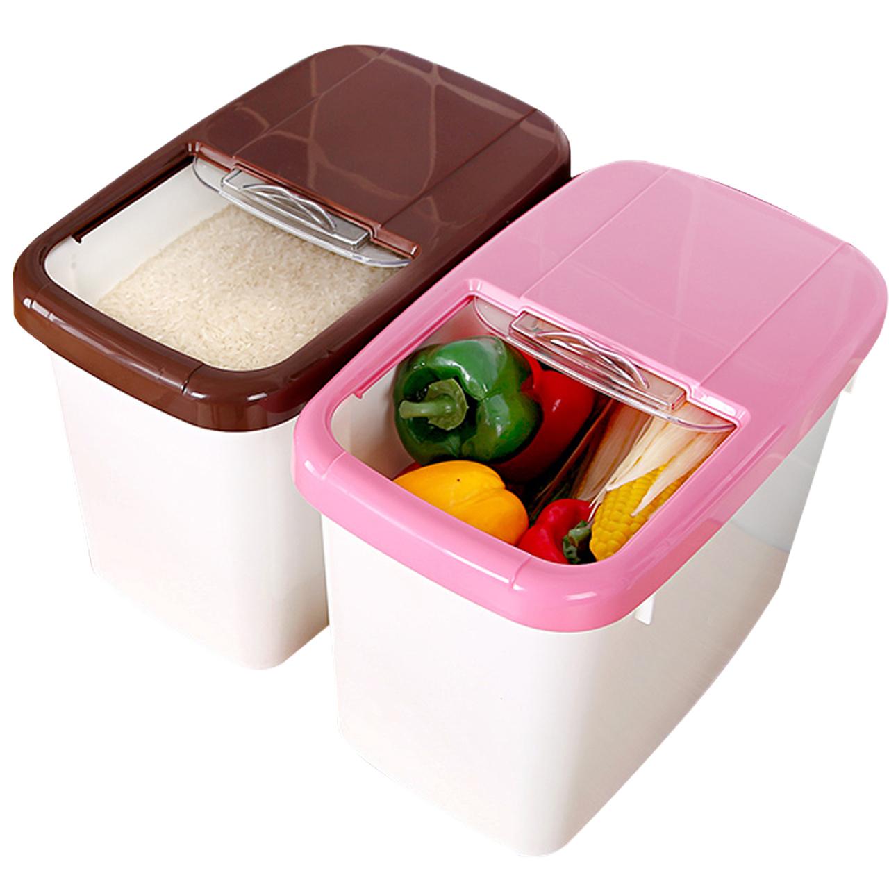 装米桶储米箱 10kg防虫防潮厨房塑料盛放米的米桶密封+米缸杂粮箱