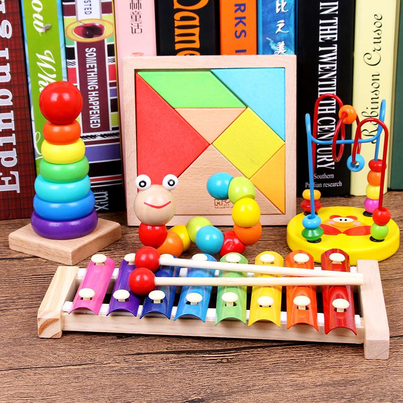 Деревянный фортепиано младенец младенец ребенок головоломка музыка игрушка 6-12 ребёнок возрастом … месяцев 1-2-3 полный год половина дерево гусли музыкальные инструменты