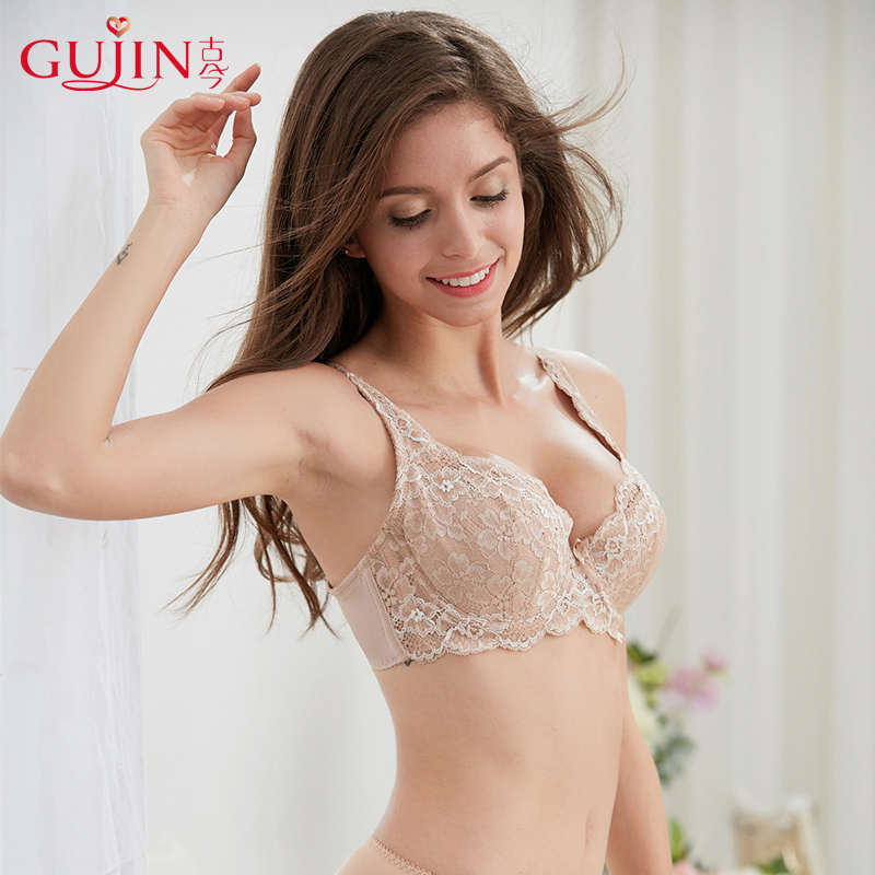 386c334f4e7 Ancient and modern lace gathered thin bra big cup code side ...