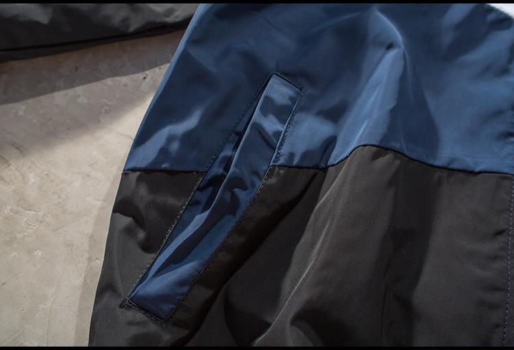 Hàn quốc ulzzang Harajuku bf gió màu cổ áo cổ áo jacket nam loose couple ins đẹp trai xu hướng áo khoác màu tím