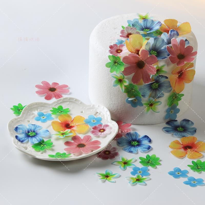 Glutinous rice paper flower edible digital cake baked pastry cold glutinous rice paper flower edible digital cake baked pastry cold plate decorated paper wafer three dimensional butterfly flower mightylinksfo