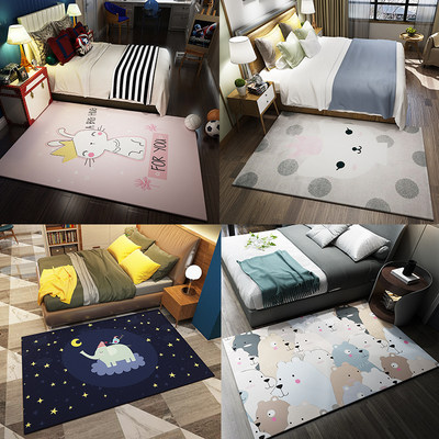 Carpet living room simple modern home sofa coffee table mat Nordic geometry bedroom full room floor mats machine washable