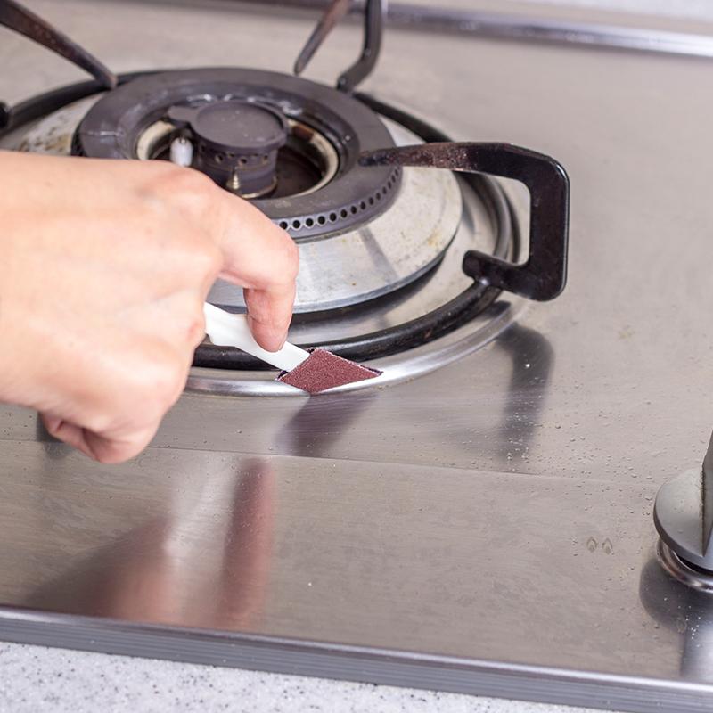 台湾Udilife菜瓜布细缝刷 牆角刷清洁刷 凹槽刷 厨房清洁工具刷子