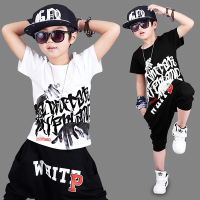 Children's clothing in the new boy boys fat children summer boys suit short-sleeved sports children cool clothing