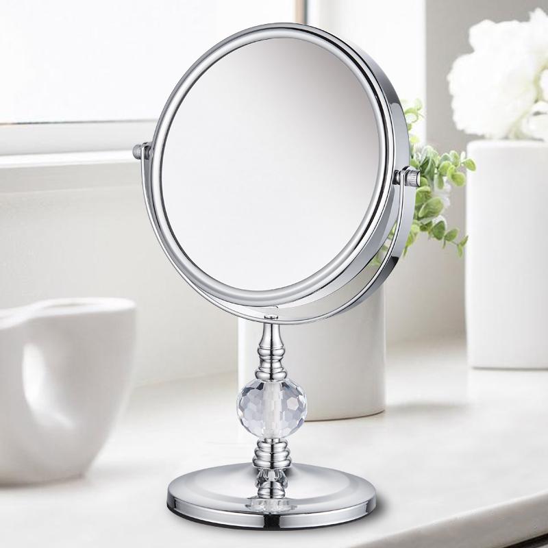 双面公主珠宝店眼镜欧桌面式书柜台水晶v双面放大号梳妆镜子化妆镜