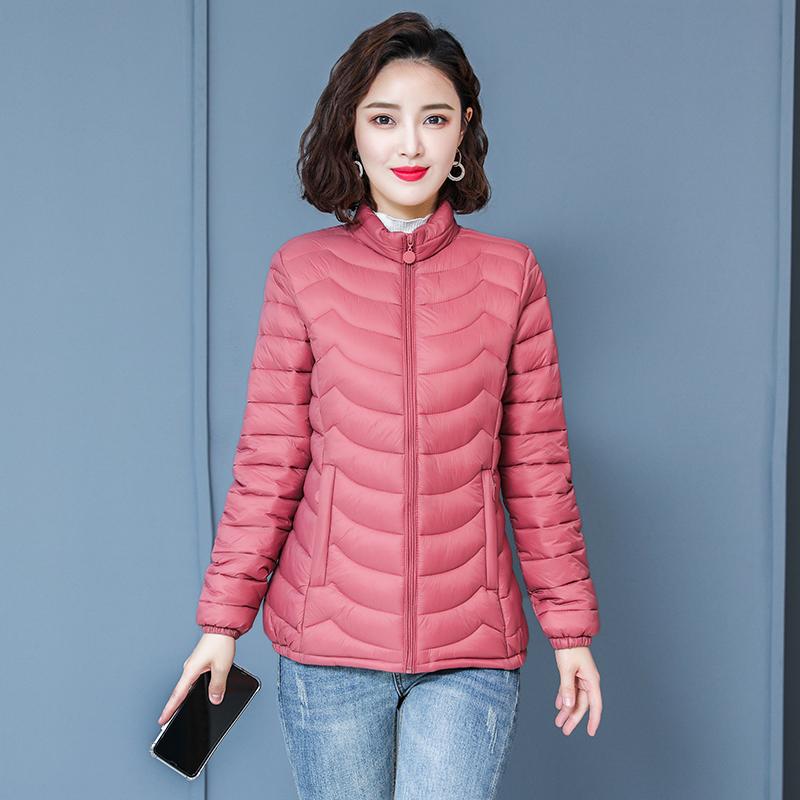 反季棉服女2019新款修身小棉袄短款轻薄秋冬季棉衣外套女