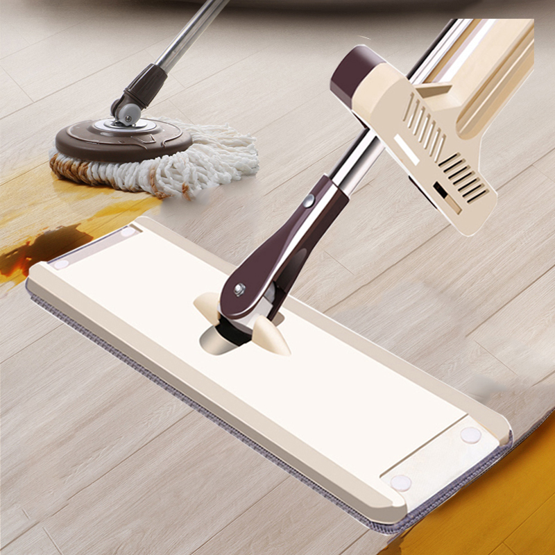 45cm大号免手洗平板拖把懒人墩布家用木地板干湿两用旋转地拖神器