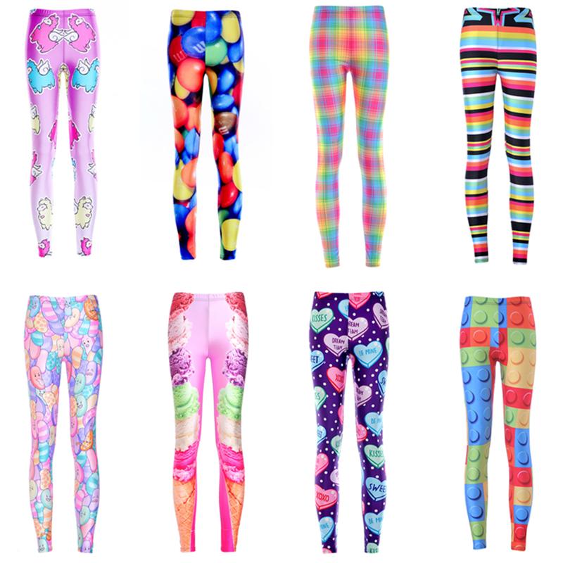 粉色彩色裤女外穿紧身糖果春秋季薄款色长裤印花打底瑜伽弹力裤子