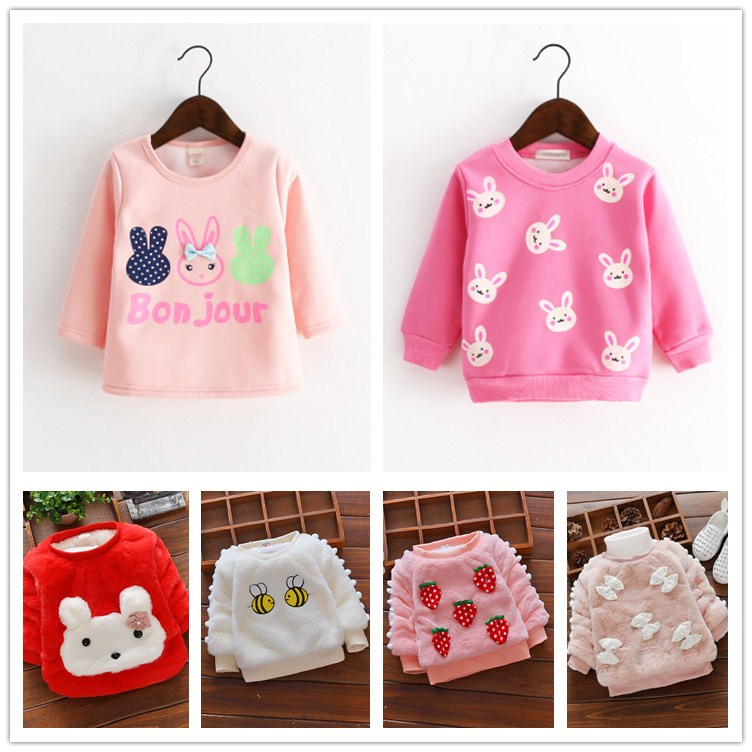 770b56de3 USD 12.97  Female baby fall   winter clothes 0-1-2-3-year-old T ...