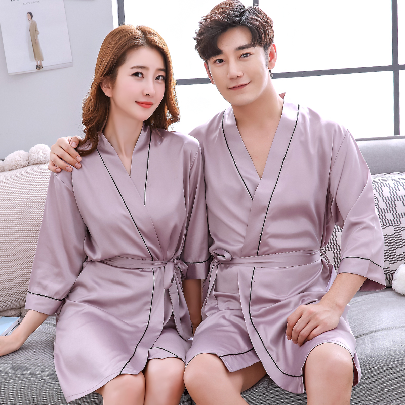 D nightgown - couple (milk color)
