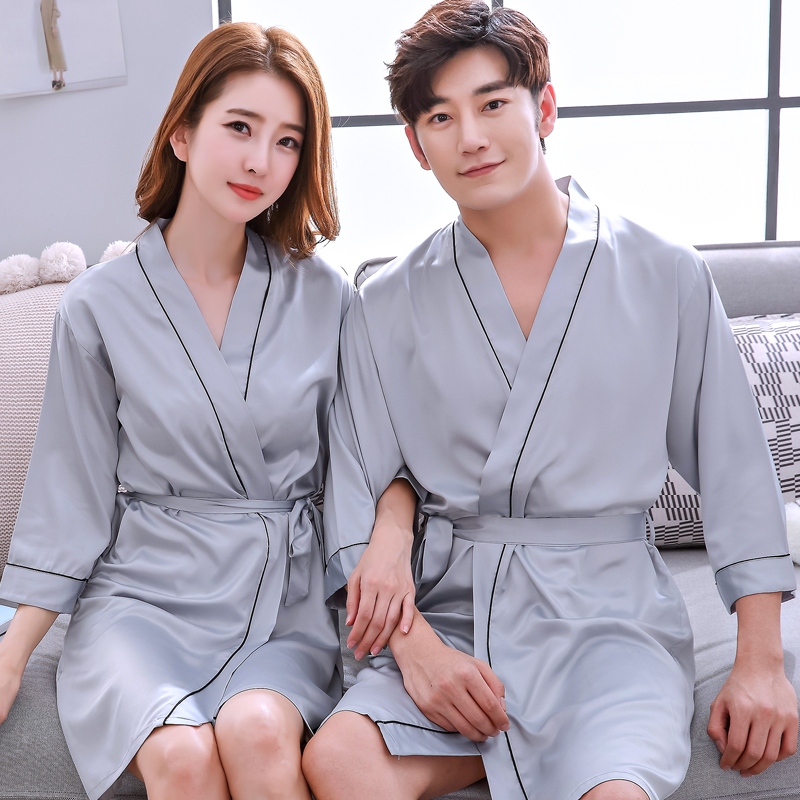 D Nightgown - Couple (Gray)